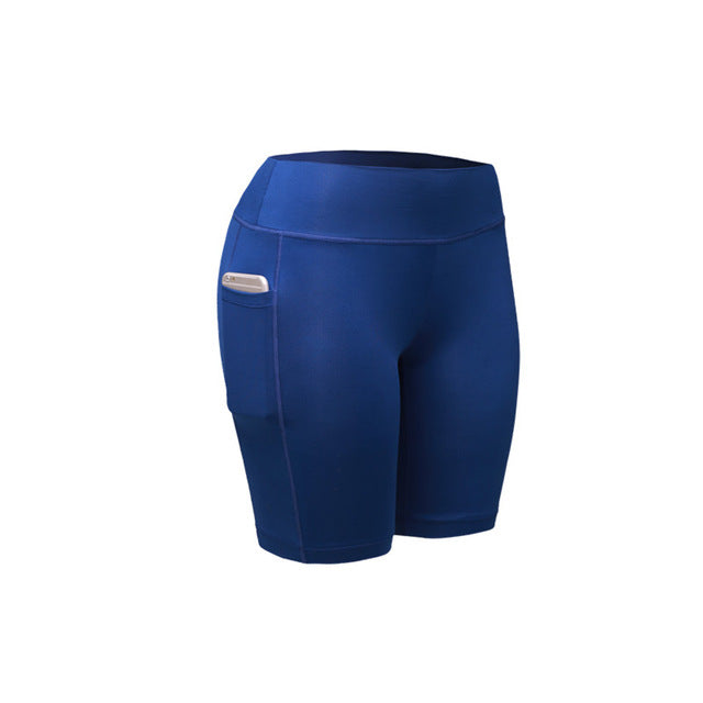 Quick Dry Compression Shorts With Pocket