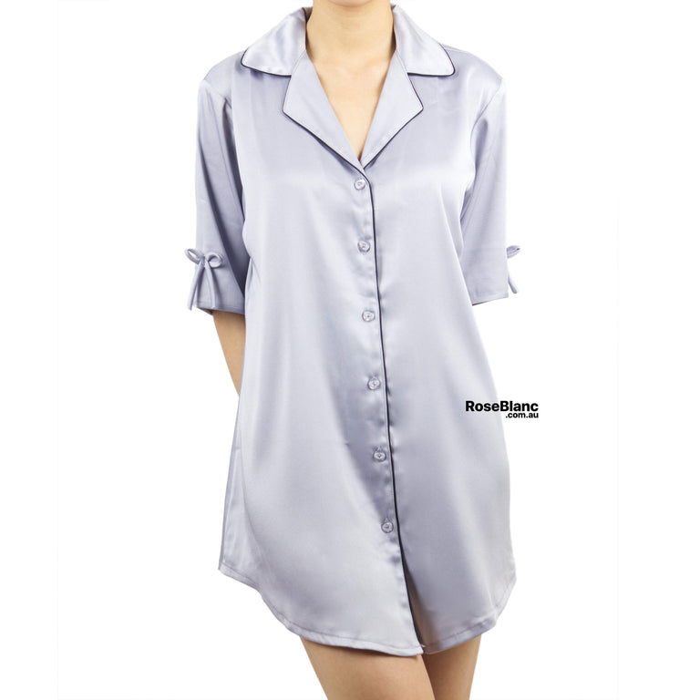 Luxe Grey Silky Nightshirt
