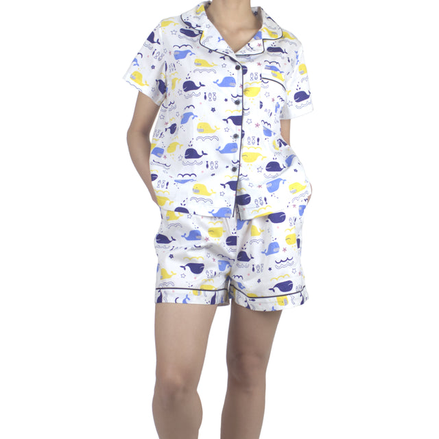 Whale Shortie Set