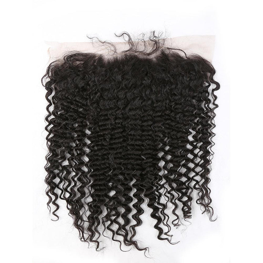 Lace frontale curly noir