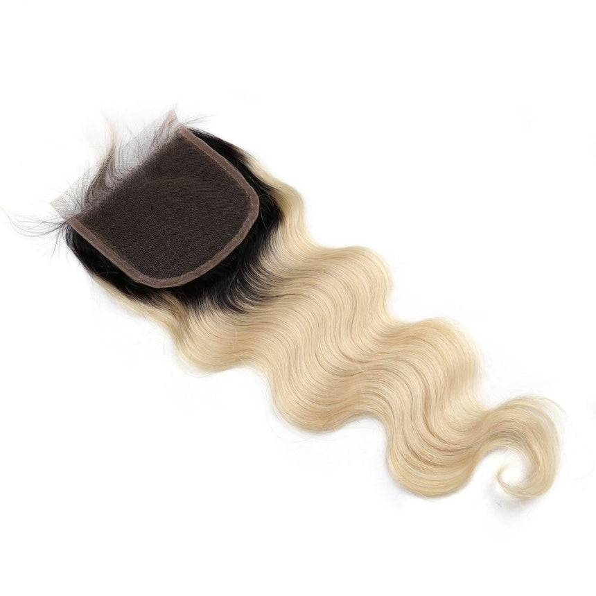 Closure Body Wave  Blond #1B/613 - Cheveux Naturel - Cheveux Humain