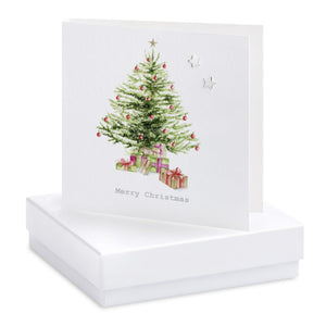 Christmas Tree Earring Card