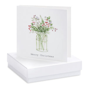 Christmas Jam Jar Earring Card
