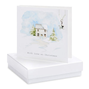 Christmas House Necklace Card