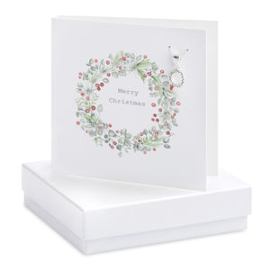 Christmas Wreath Necklace Card