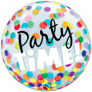 22 Inch Party Time! Colourful Dots Bubble Balloon