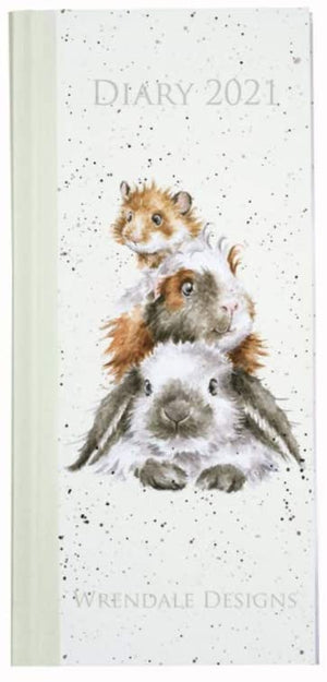 Rabbit, Hamster and Guinea Pig Slim Diary 2021