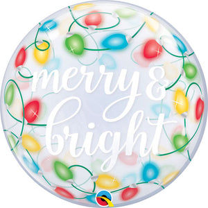 22 Inch Merry and Bright Bubble Balloon