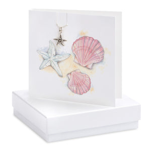 Shells & Starfish Necklace Card