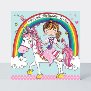 Princess & Unicorn - Jigsaw Card