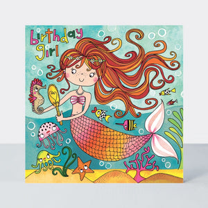 Happy Birthday Mermaid Jigsaw Card