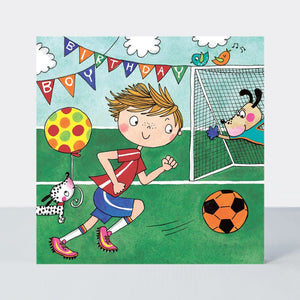 Happy Birthday Football Jigsaw Card