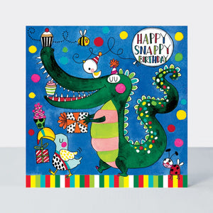 Happy Snappy Birthday Crocodile - Jigsaw Card