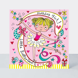 Happy Birthday Ballerina Jigsaw Card