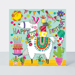 Happy Birthday Llama Jigsaw Card