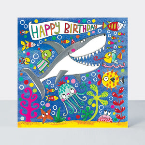 Happy Birthday Shark Jigsaw Card