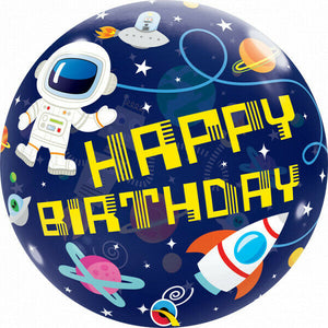 22 Inch Birthday Outer Space Bubble Balloon