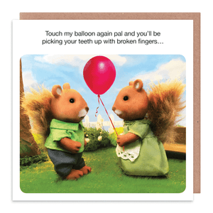 Touch My Balloon Greeting Card