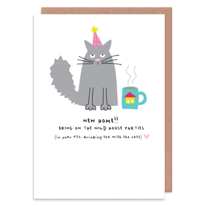 With The Cats Greeting Card