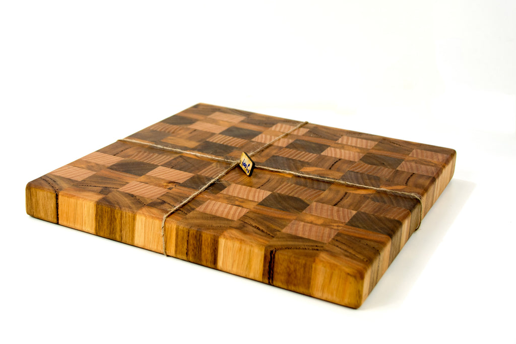 Marri end grain chopping board butcher block 400x370x50mm western sale end grain chopping board urtaz Images