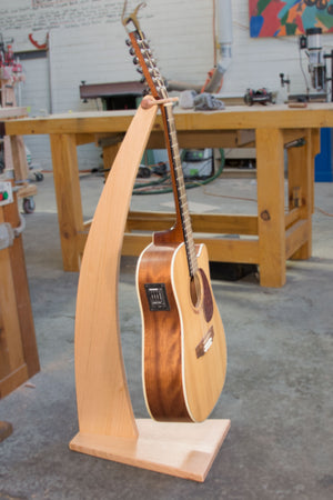 Solid Wood Guitar Stand - Curved shape