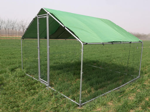 Metal Chicken Run 3m x 2m 25mm Frame Green Cover