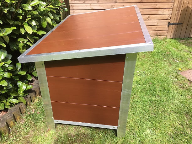 Large: Paw Pad Brown Dog Kennel