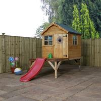Snug Playhouse with Tower and Slide