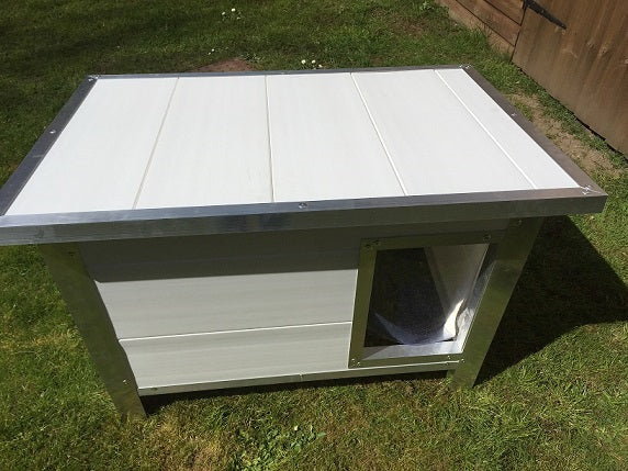 Large: Paw Pad White Dog Kennel