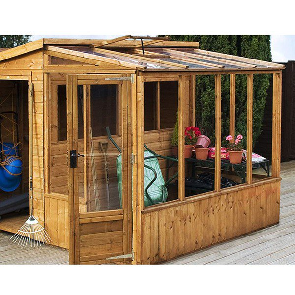 Combi Pent Shed & Greehouse 8 x 8
