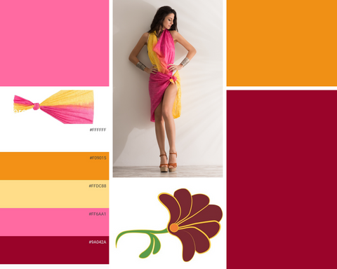 Pareo Sarong color combination