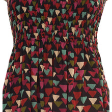 Load image into Gallery viewer, elegant summer dress with in pure cotton with geometrical multicolor print 012