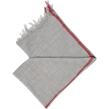 Load image into Gallery viewer, Misty Grey Red line pure wool scarf