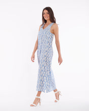 Load image into Gallery viewer, Long summer dress for women in pure light cotton with flower printed - SURAT