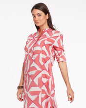 Load image into Gallery viewer, Long summer dress with geometrical print made in light cotton - JODHPUR