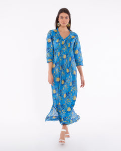 Long summer dress in light cotton for women - BANGALORE