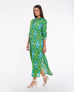 Long summer dress for women made in light cotton - KOVALAM