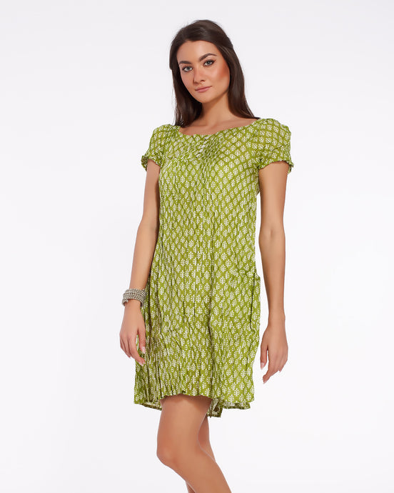 Short summer dress for women in light soft cotton - COIMBATORE