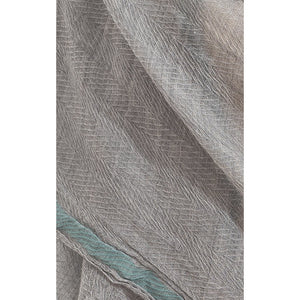 Misty Grey light blue line pure wool scarf