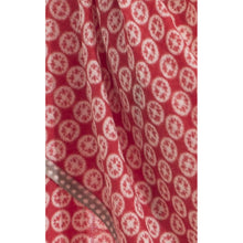Load image into Gallery viewer, Bright red and light grey wool scarf