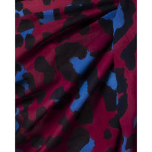 Load image into Gallery viewer, Sarong Pareo Leopard print red and blue color