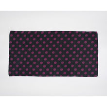 Load image into Gallery viewer, Sarong Pareo dark grey with purple dots printed all over