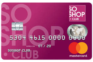 Carte MasterCard SoShop.Club