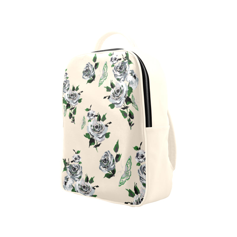 Backpack (Model1622) Rose Nicholas & Butterflies, White