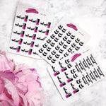 Beauty Appointment Planner Stickers