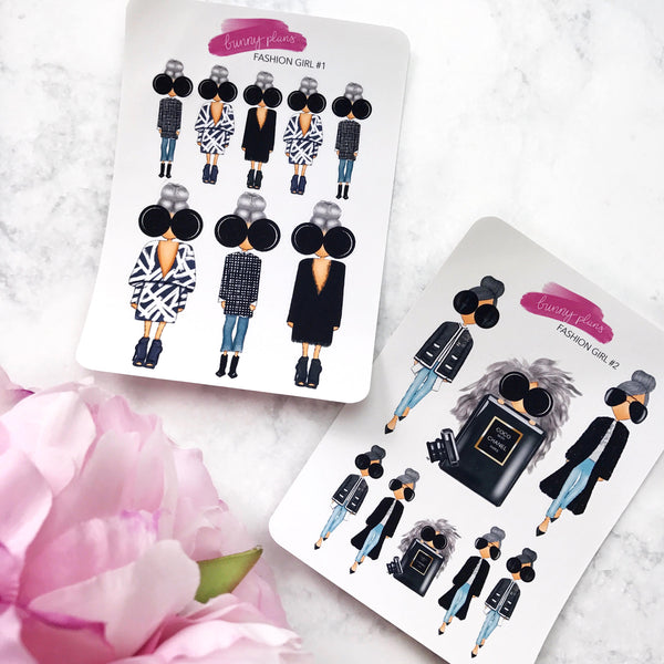 Fashion Girl Planner Stickers