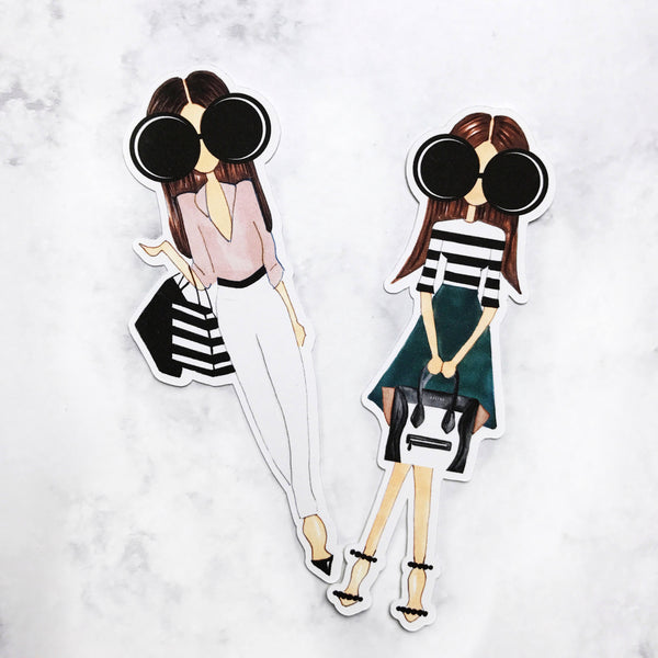 Stripe Girl Die Cut Set