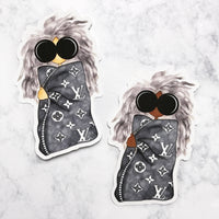 Luxe Gray Girl Die Cut