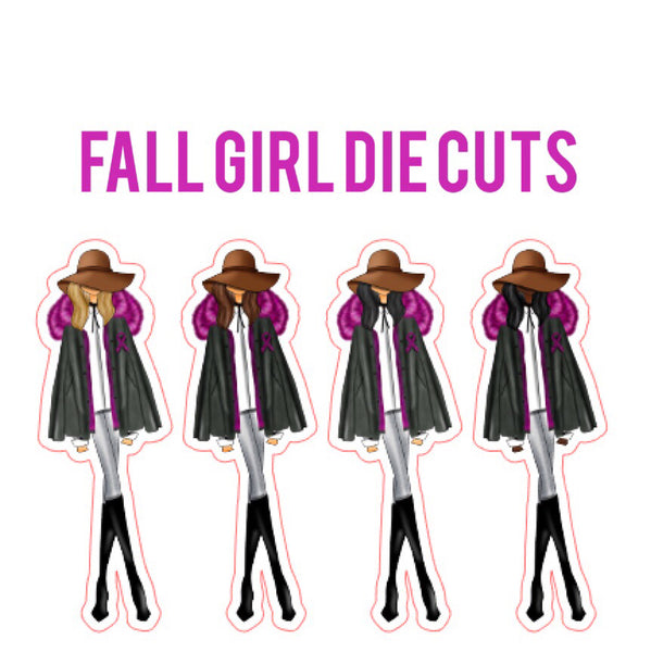Fall Girl Die Cuts