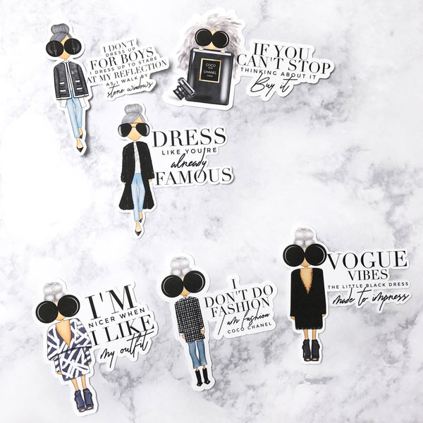 Fashion Girl Die Cuts with Quotes